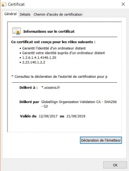 SSL Validation d'organisation